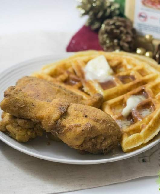 Gluten Free Fried Chicken and Waffles