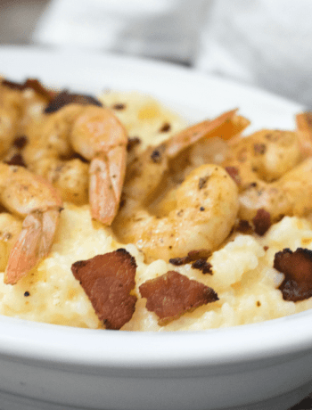 Cheesy Gluten Free Shrimp and Grits