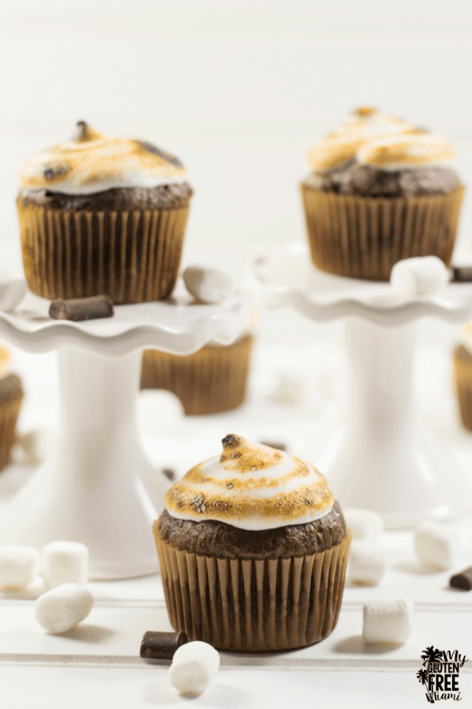 Gluten Free Double Chocolate Marshmallow Cupcakes