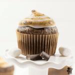 Gluten Free Double Chocolate Marshmallow Cupcake
