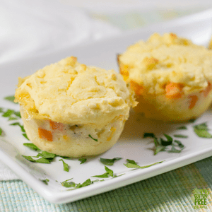 Gluten Free Chicken Pot Pie Muffin