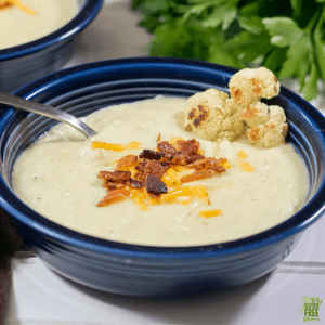 Gluten Free Roasted Cauliflower Soup
