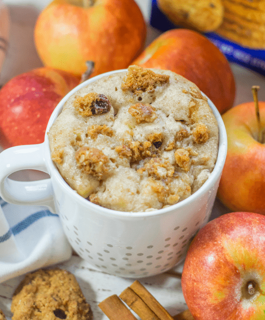 apple cinnamon gluten free mug cake