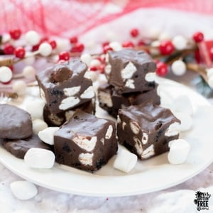 Easy, Rocky Road Fudge (Gluten Free)