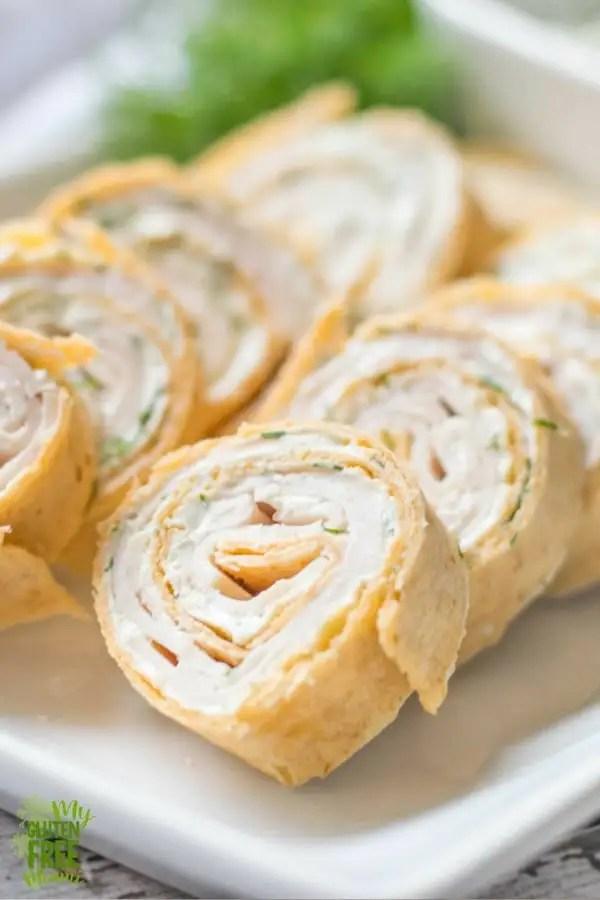Turkey Pinwheels with Dill Cream Cheese