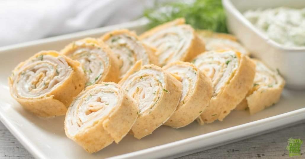 Gluten Free Turkey & Dill Pinwheel Appetizers