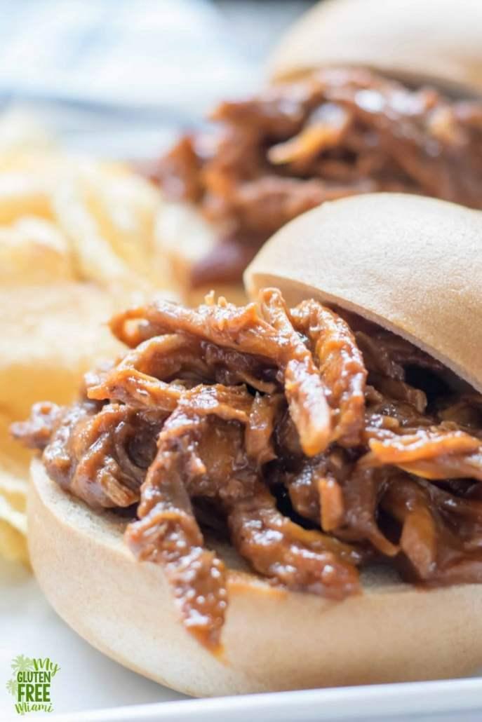 gluten free BBQ Pulled Pork Sandwiches