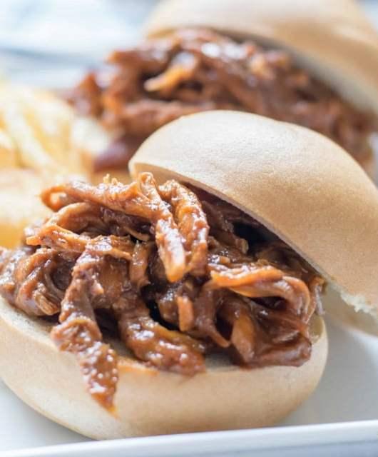gluten free bbq sandwiches close up