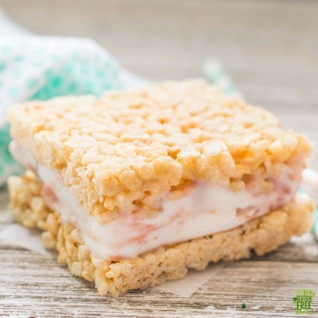 Gluten Free Rice Crispy Treat Ice Cream Sandwich by itself