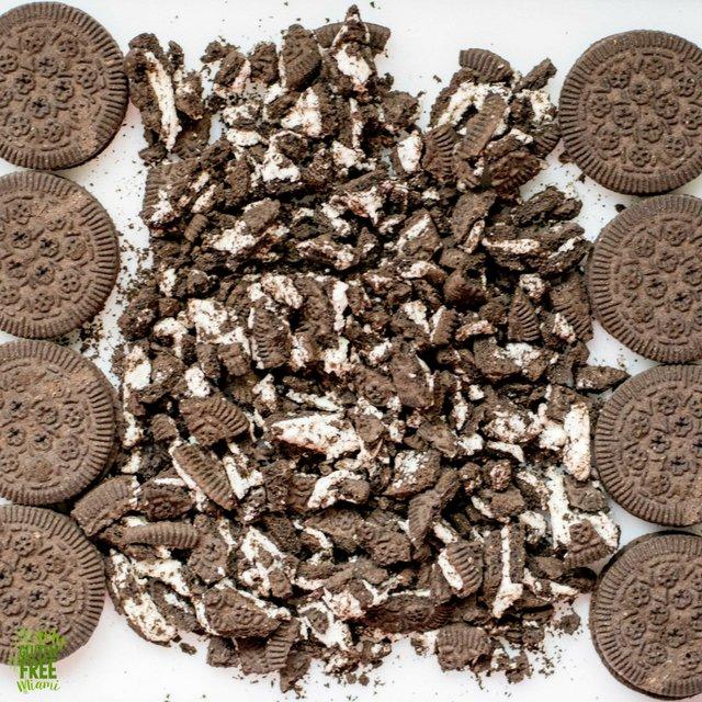 Chopped Goodie Girl Chocolate Creme Cookies