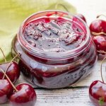 Homemade cherry sauce