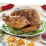 easy, no fail, gluten free brined turkey with orange juice, wine and thyme