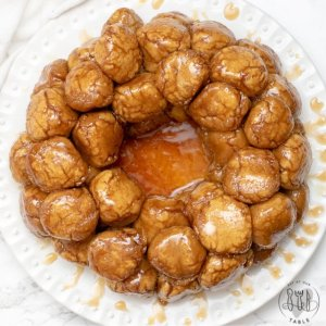 overhead shot of vegan gluten free monkey bread
