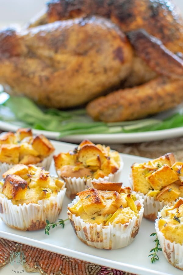 Easy gluten free stuffing cups