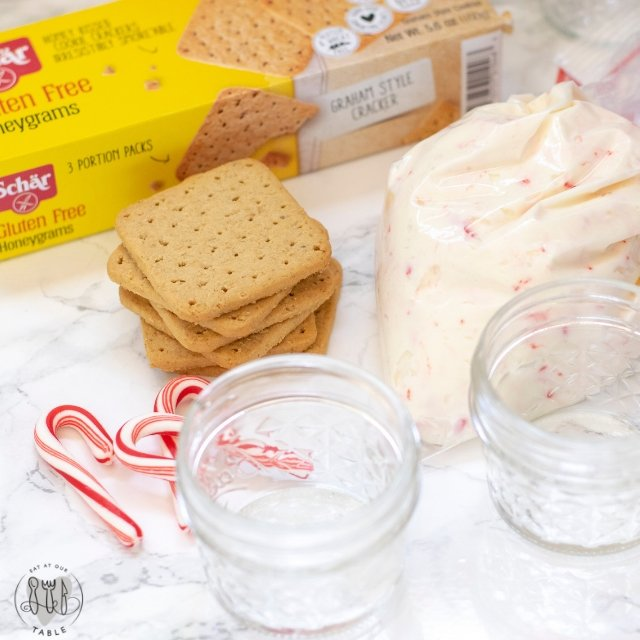 ingredients for no bake gluten free peppermint cheesecake