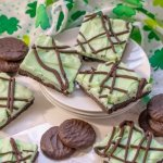 Gluten Free No Bake Grasshopper Cookie Bars