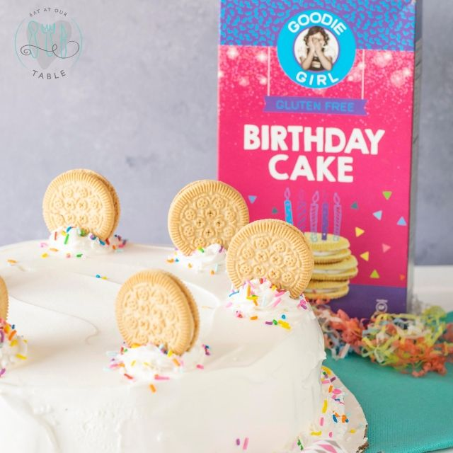 goodie girl birthday cake cookies with birthday ice cream cake
