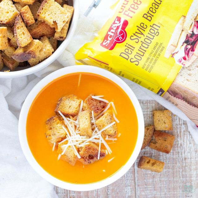 schar sour dough bread and gluten free croutons