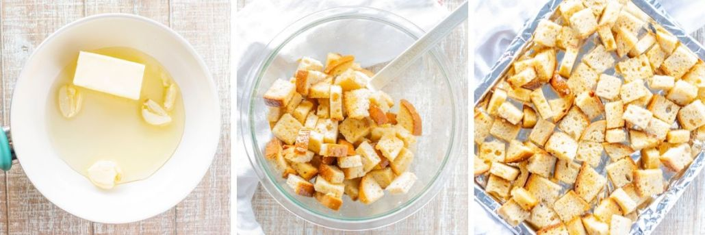 steps to make gluten free croutons in the oven