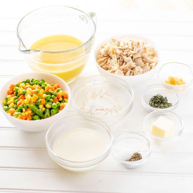 Ingredients for Gluten Free Turkey Pot Pie