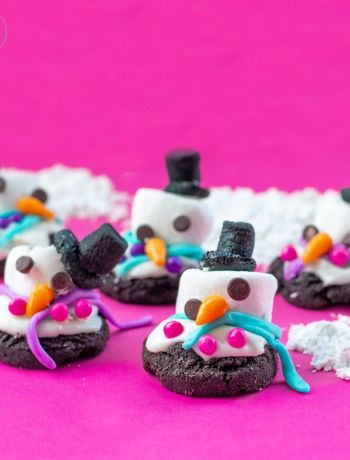 Gluten Free Melted Snowman Cookies