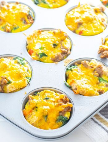 make ahead gluten free breakfast muffins in a muffin tin