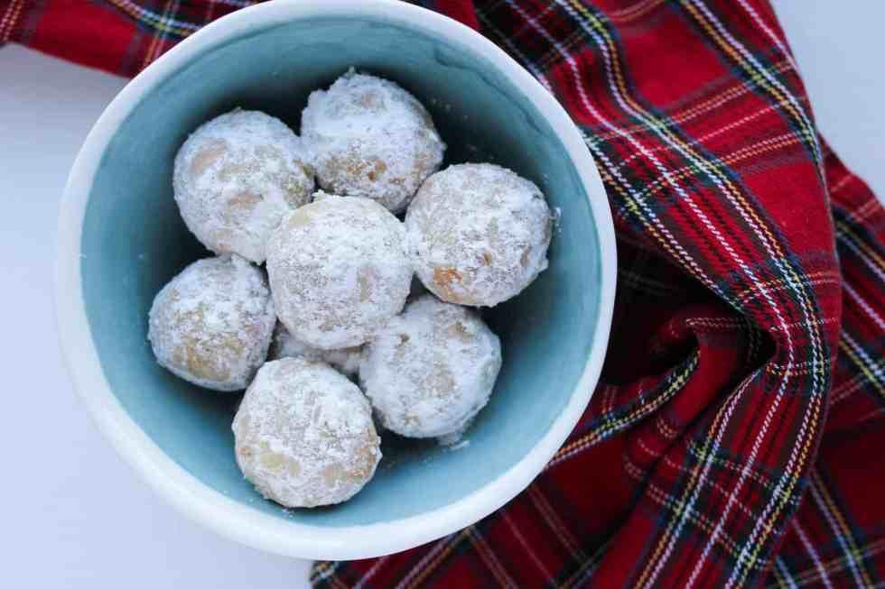 Walnut Snowball Cookies, Keto, Low-Carb, Paleo