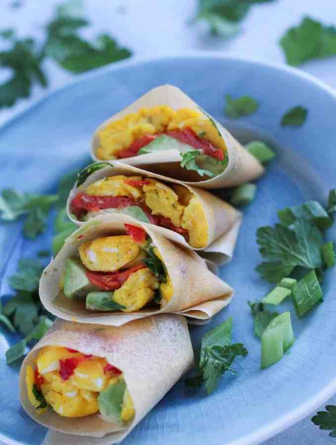 Coconut Wrap Breakfast Burrito