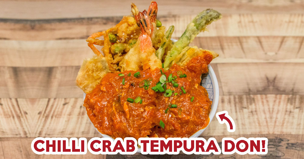 Don Meijin Review: Singapore's First Chilli Crab Tempura Don Found At Bugis