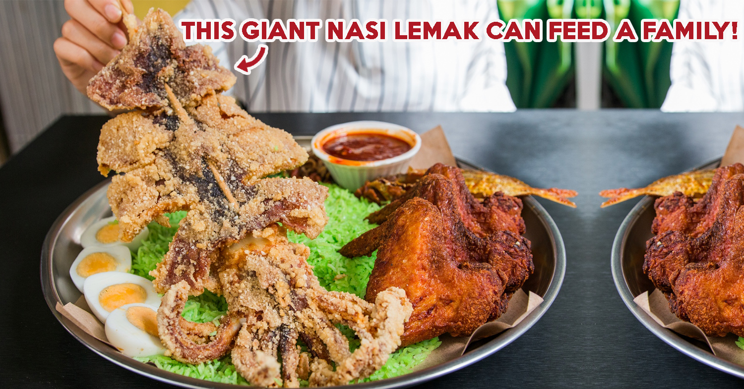 Route 12 Review: Giant Nasi Lemak With XXL Sotong Near Farrer Park MRT Station