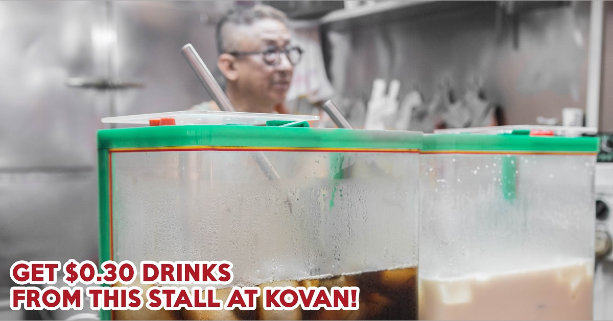 Sun Kee Drinks: Kovan Hawker Stall With $0.30 Soya Bean, Grass Jelly, And Bird's Nest Drinks