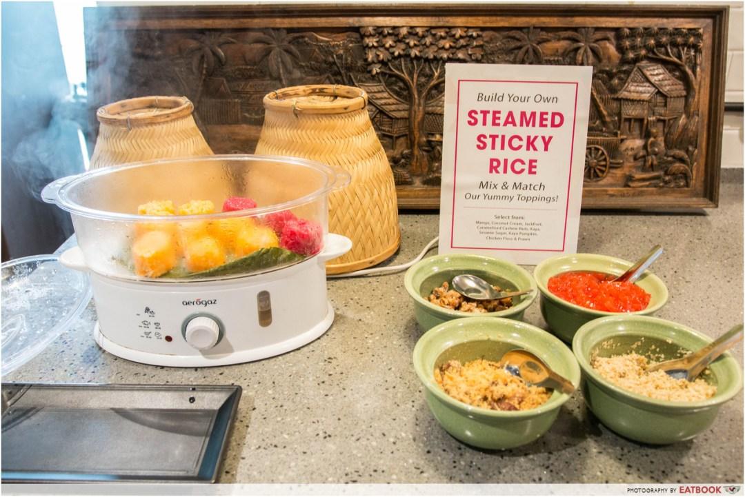 talay kata - sticky rice