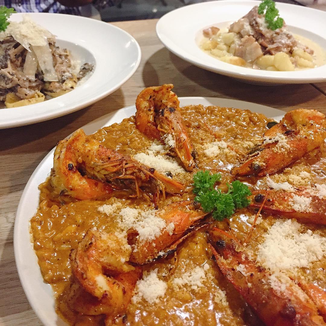 unique risotto - curry prawn risotto