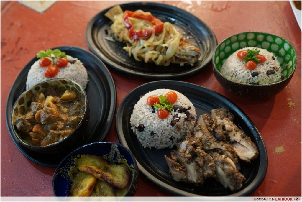 Bedok Hawker Stalls Mikes-Caribbean-Food