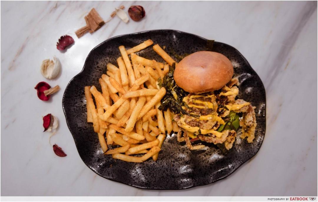 Yummo Chow - Soft Shell Crab Burger