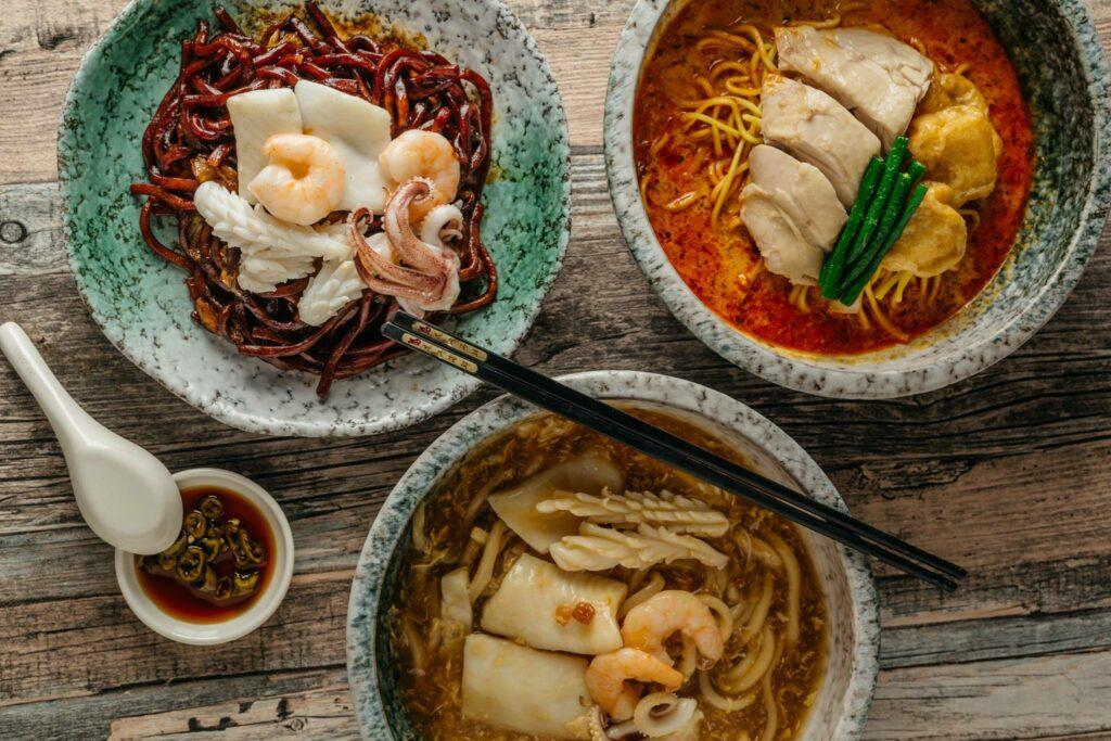 Malaysian-style dishes in Singapore Jalan Petaling Famous Malaysian Street Food