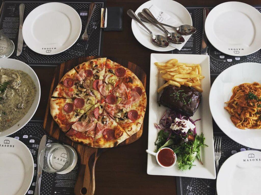 Prettiest Restaurant Storefront UOB YOLO Masons Food
