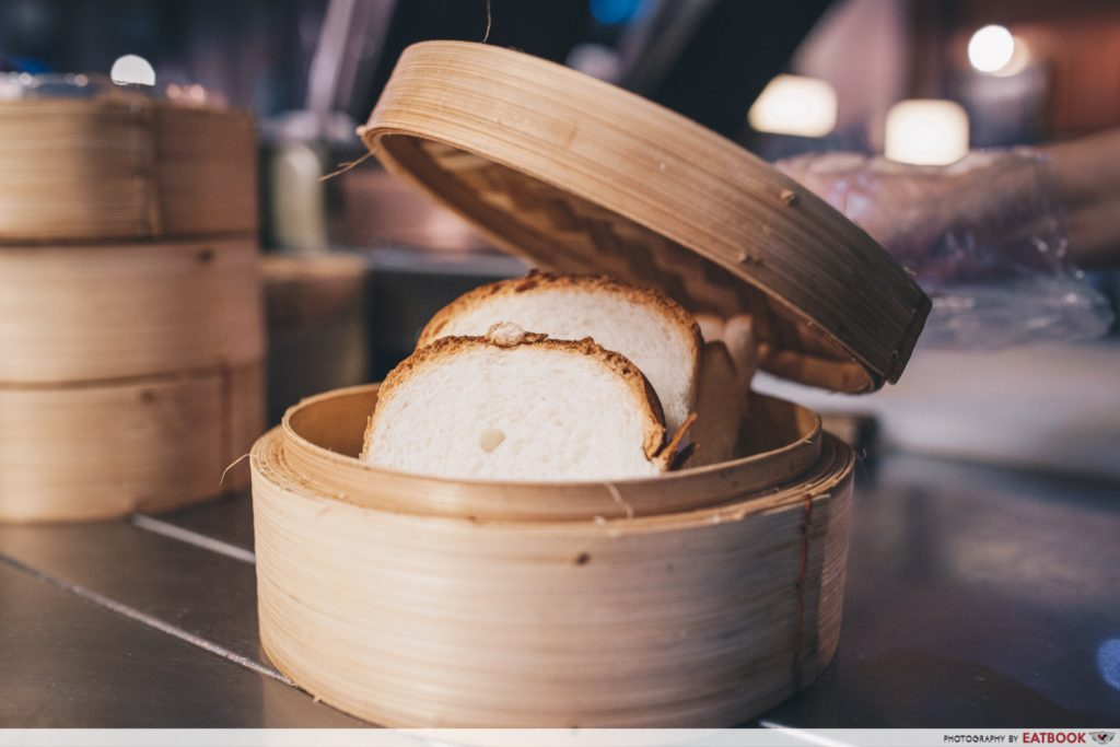 papparich Hainan Steamed Bread with Butter and Kaya