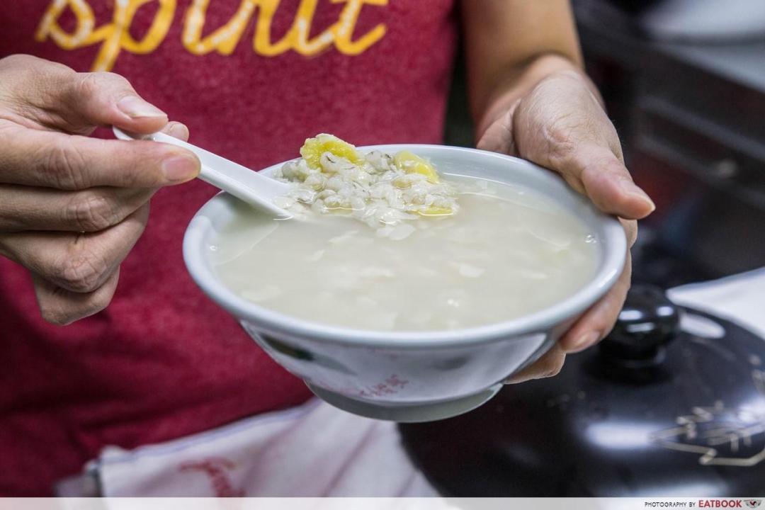 Thong Sum - Sweet Barley & Gingko Nut Soup