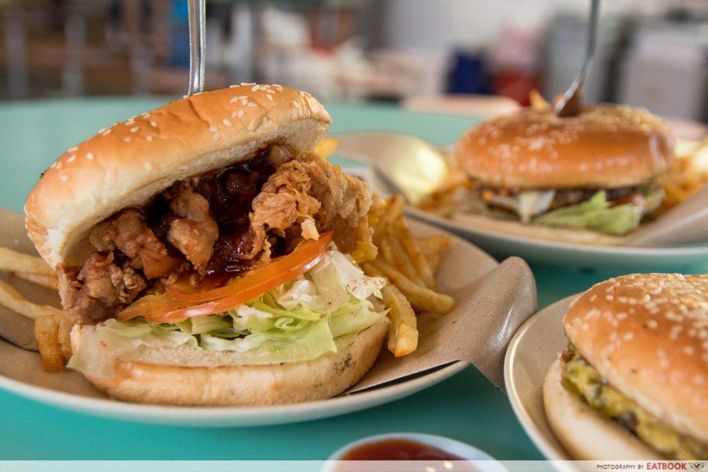 Singapore Hawker Food - Har Cheong Gai Chicken Burger