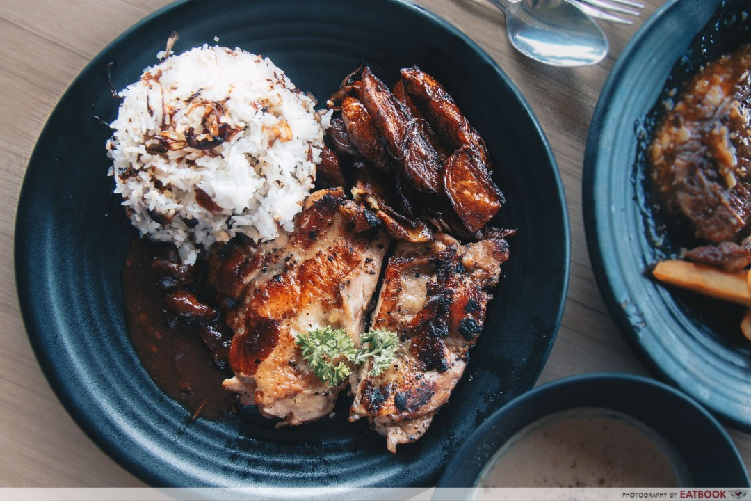 Wild Olives - Grilled Chicken with Mushroom Sauce