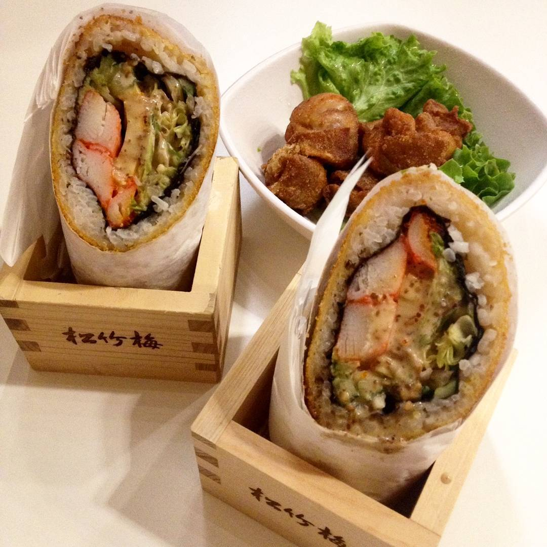 avocado dishes- sushi burrito