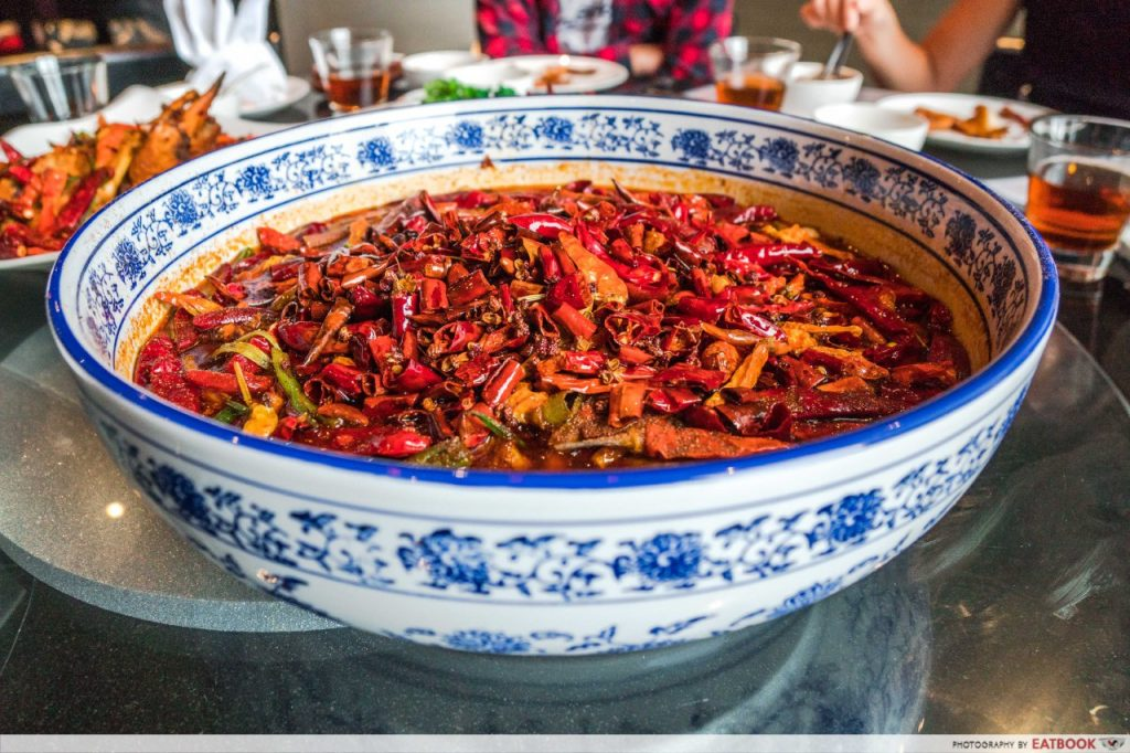 Qi House of Sichuan Braised Garoupa Fish Fillet in Chili Oil Soup