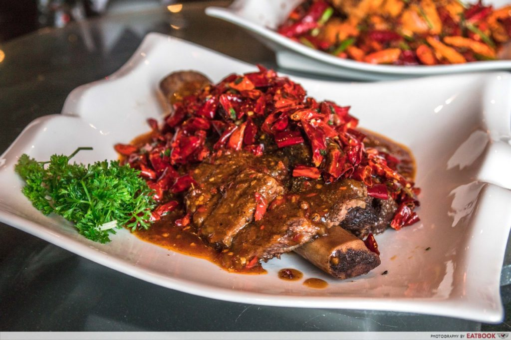 Qi House of Sichuan Slow-Cooked Black Angus Beef Short Ribs with Mala Sauce