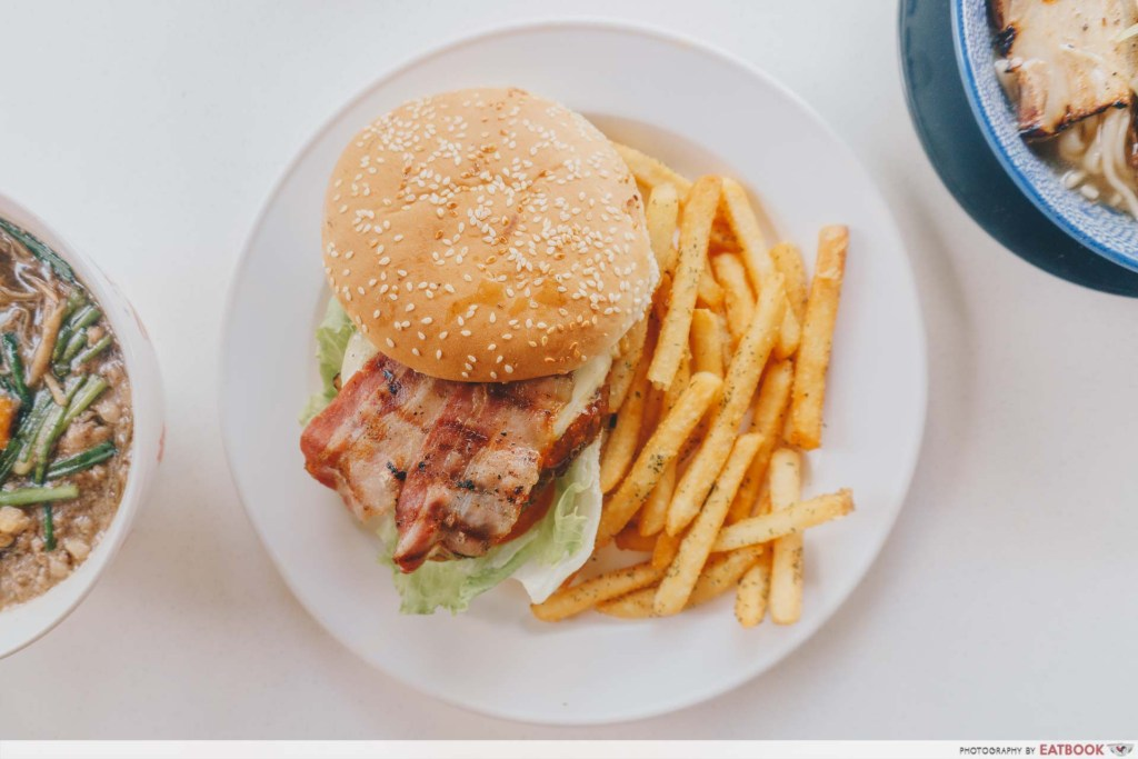 73 Hillcrest Angus Bacon Burger