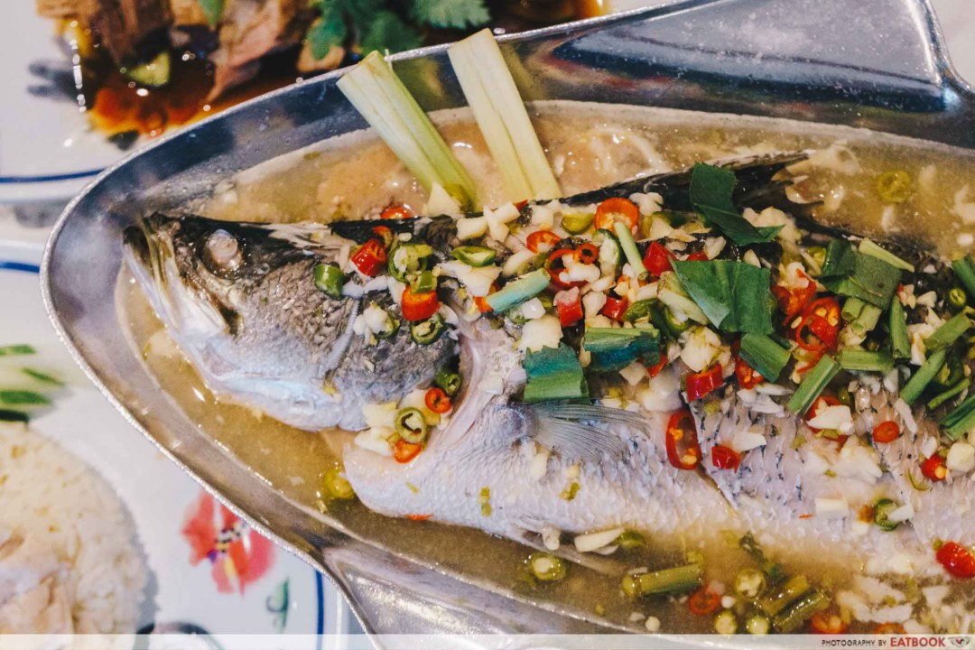 Bangkok Chicken Rice - Steamed Sea Bass with Chilli, Lime & Garlic