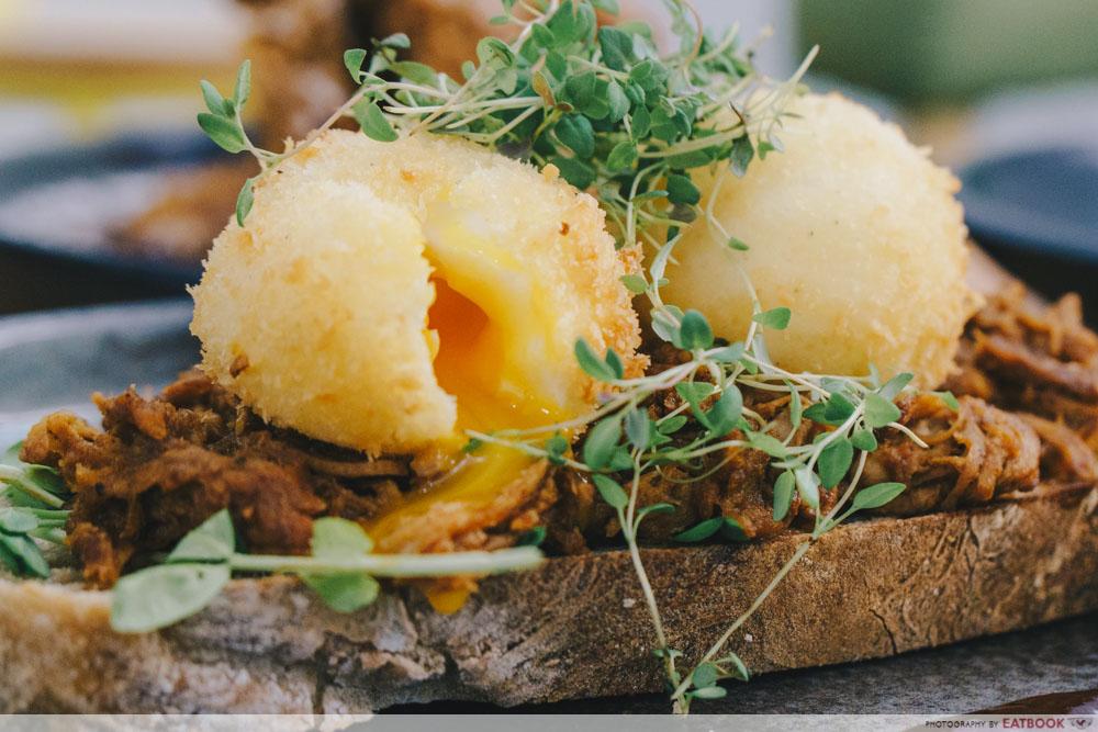 Earlybird Crumbed Eggs on Toast
