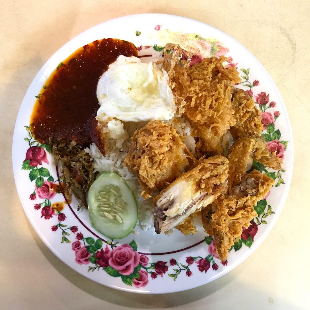 Tekong guide - International Muslim food stall Nasi Lemak
