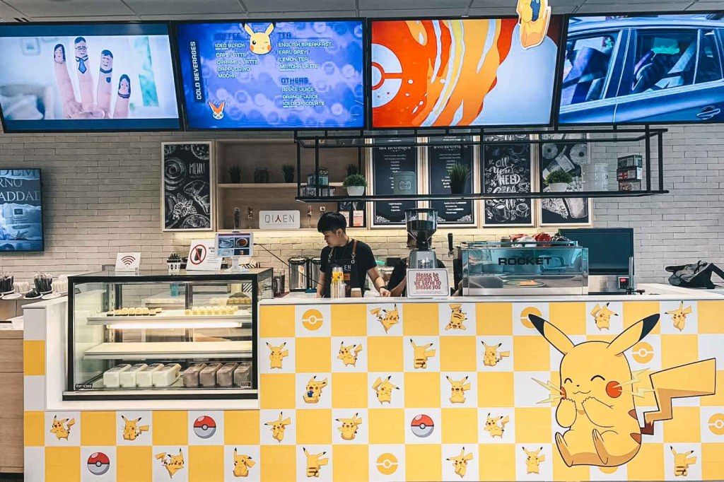 pokemon-themed cafe pikachu