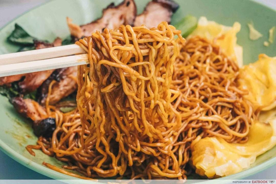 Cantonese Delights - Wonton Mee Noodles Closeup